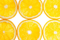 Orange slices isolated Royalty Free Stock Photo
