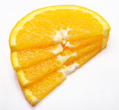 Orange slices isolated Stock Photo