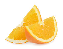 Orange slices isolated on white Stock Photo