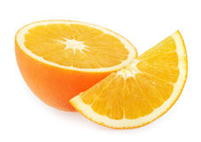 Orange slices isolated on white Royalty Free Stock Images
