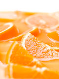 Orange slices in juice. Royalty Free Stock Images