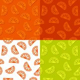 Orange slices low poly seamless pattern. 4 color variations. royalty free stock photo