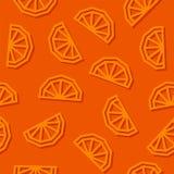 Orange slices low poly seamless pattern. Dark background. stock photo
