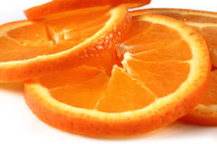 Orange slices macro Stock Images
