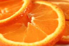Orange slices macro Royalty Free Stock Photos