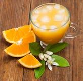 Orange slices and orange juice Royalty Free Stock Image