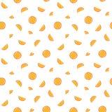 Orange slices pattern. Stock Image