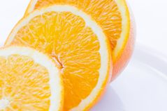 Orange Slices on Plate (1) Stock Image