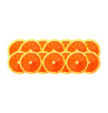 Orange slices in a row Royalty Free Stock Photo