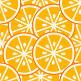 Orange slices seamless pattern Stock Image