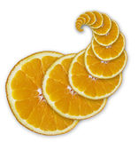 Orange slices (spiral) Royalty Free Stock Photo