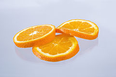 Orange slices. Slices of tasty and colorful orange Stock Images
