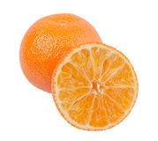Orange slices on white background Royalty Free Stock Image