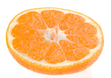 Orange slices on white background Royalty Free Stock Photo