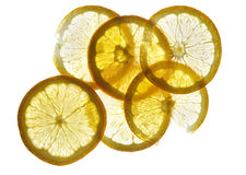 Orange. Slices of orange on white background Royalty Free Stock Image