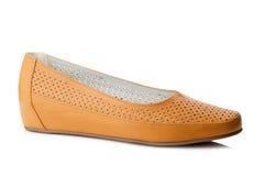 Orange slipper isolated on white background. Stock Images