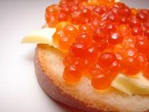 orange smörgås Arkivfoto