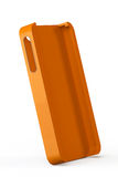 Orange smartphone back cover Stock Images