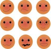 Orange smile. Beautiful orange smile where see you Royalty Free Stock Image