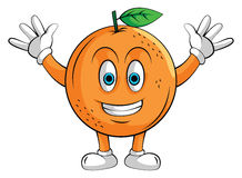 Orange Smile Character Royalty Free Stock Photography