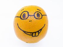 Orange with a smiley - good humor, fun and pleasure Stock Images