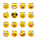 orange smileys stock illustrationer