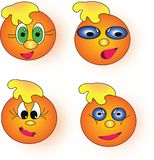 Orange smileys Royalty Free Stock Photography