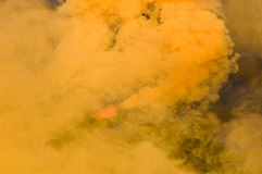 Orange smoke Stock Photography
