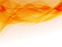 Orange smoke. Abstract orange waves background with white space on the bottom Royalty Free Stock Photos