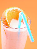 Orange smoothie Stock Photography