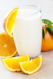 Orange smoothie Royalty Free Stock Images