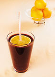 Orange smoothie with blueberrie Royalty Free Stock Image