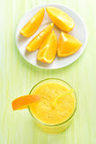 Orange smoothie in glass Royalty Free Stock Photography