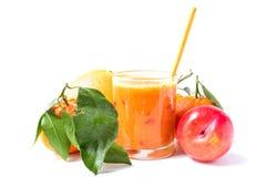 Orange smoothie Stock Images