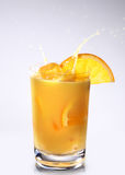 Orange Smoothie Served with Orange Slice Stock Image