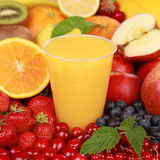Orange smoothie Stock Photos