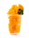 Orange smoothies Stock Images