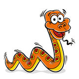 Orange snake cartoon. Royalty Free Stock Photo