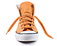 Orange sneakers isolated Royalty Free Stock Photography