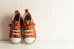 Orange Sneakers Stock Image
