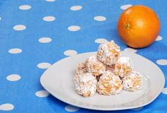 Orange snowball cookies Royalty Free Stock Photo
