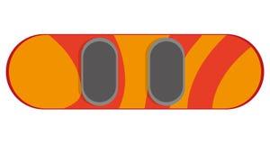 Orange snowboard icon. Flat design orange snowboard icon  illustration Stock Images