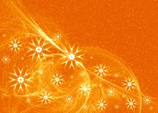 Orange Snowflake Background Royalty Free Stock Photography