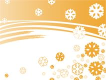 Orange snowflakes Royalty Free Stock Image