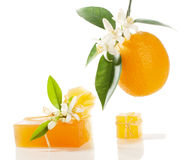 Soap and orange Royalty Free Stock Images