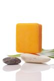 Orange soap on stone Stock Photography
