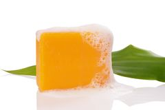 Orange soaps Stock Image