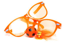 Orange soccer accessory Royalty Free Stock Image
