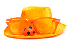 Orange soccer accessory Stock Photos