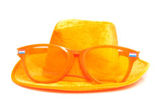 Orange soccer accessory Royalty Free Stock Photography
